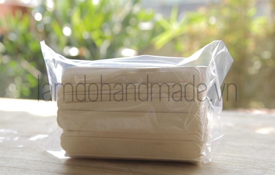 Hình ảnh que kem gỗ chất lượng mình mua ở 1 shop Hà Nội